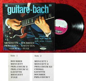 LP André Benichou: Guitare Bach (Vogue LDV 17 007) D 1964