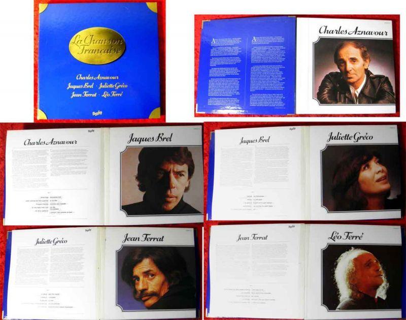 5LP Album La Chanson Francaise - Aznavour Brel Gréco Ferrat Ferré (Barclay) D 76 0