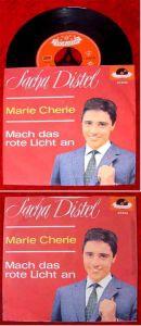 Single Sacha Distel: Marie Cherie / Mach das rote Licht