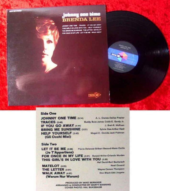 LP Brenda Lee: Johnny One Time (MCA MAPS 1001 Stereo) D  incl. Walk Away