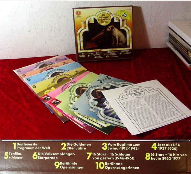 10LP Box Das Jahrhundert der Schallplatte 1877 - 1977 (100 Jahre Kulturträger) D