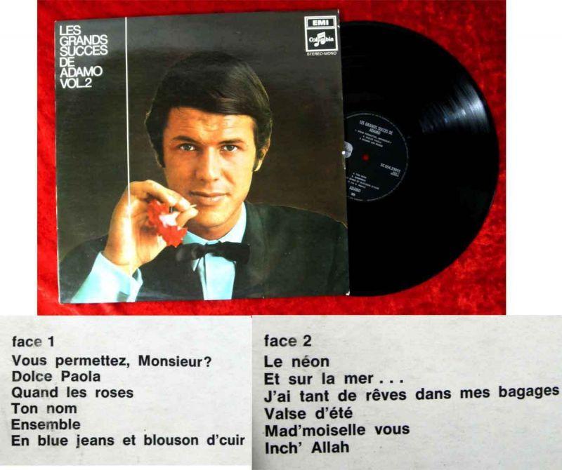 LP Adamo: Les Grands Succes de Adamo Vol. 2 (Columbia 5C 054-23093) NL