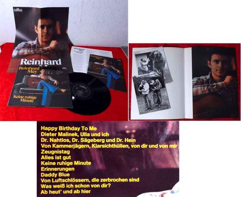 LP Reinhard Mey: Keine ruhige Minute (Intercord INT 160.121) mit Poster & Fotos