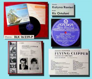 LP Flying Clipper Riz Ortolani Katyna Ranieri Signiert
