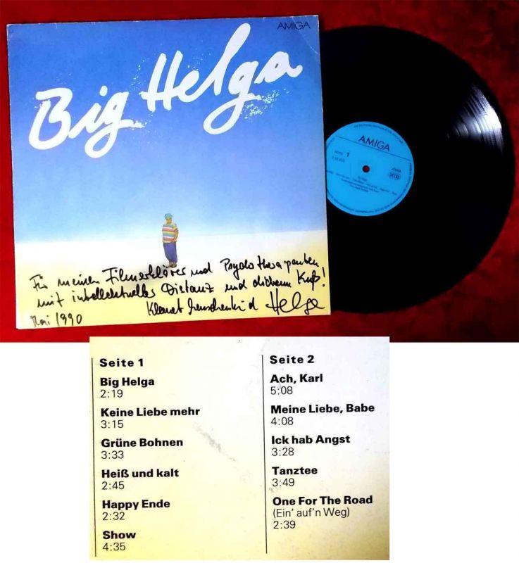 LP Helga Hahnemann: Big Helga (Amiga 856 488) DDR 1989 -  Signiert & Widmung