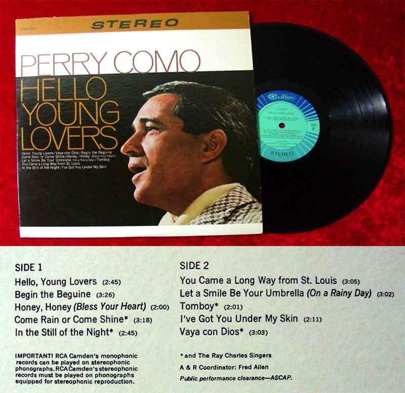 LP Perry Como: Hello Young Lovers (RCA Camden) US 1967