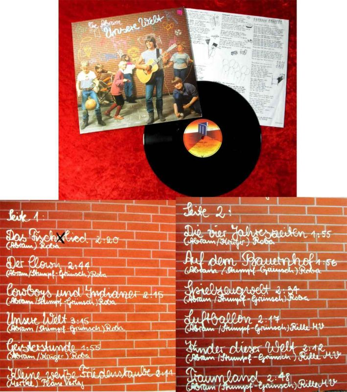 LP Vic Abram: Unsere Welt (Master 625695) D 1983