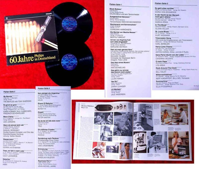 2LP 60 Jahre Philips in Deutschland w/Booklet (D) feat Beatles Udo Lindenberg...