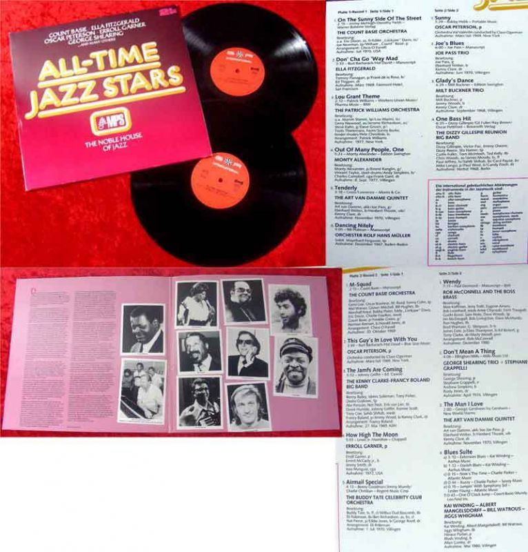 2LP All-Time Jazz Stars on MPS Noble House of Jazz