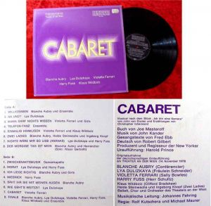 LP  Cabaret Violetta Ferrari Blanche Aubry (1970)