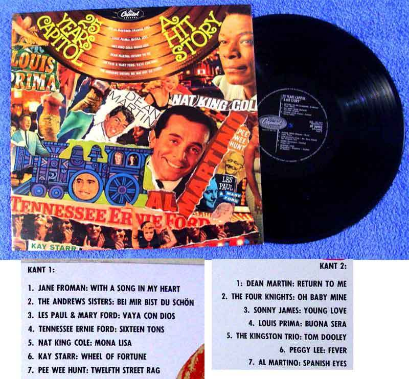 LP 25 Years Capitol - A Hit Story Dean martin Nat King Cole Les Paul Peggy Lee