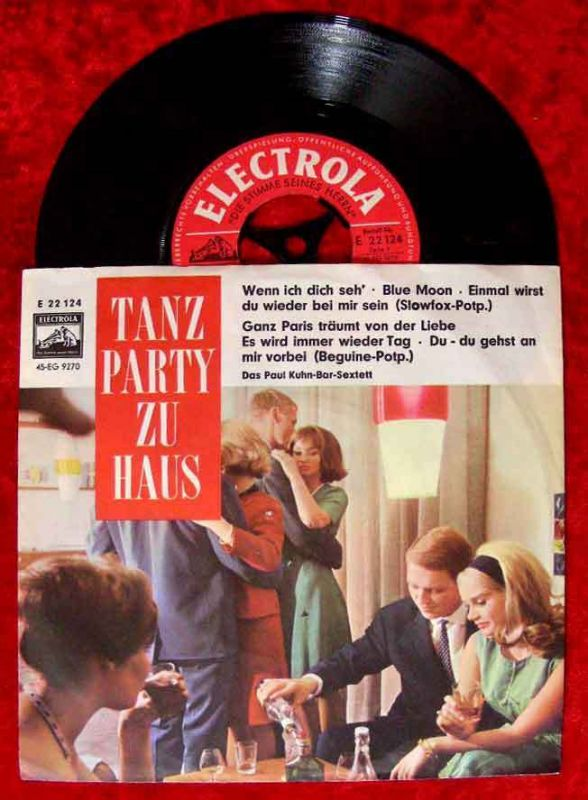 Single Paul Kuhn Bar Sextett: Tanzparty zu Haus (Electrola 22 124) D