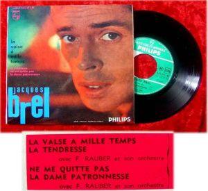 EP Jacques Brel La Valse a mille temps + 3