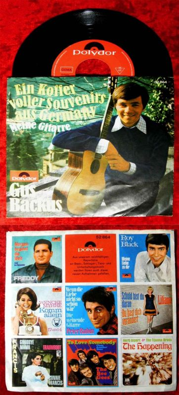 Single Gus Backus: Ein Koffer voller Souvenirs aus Germany (Polydor 52 864) D 67