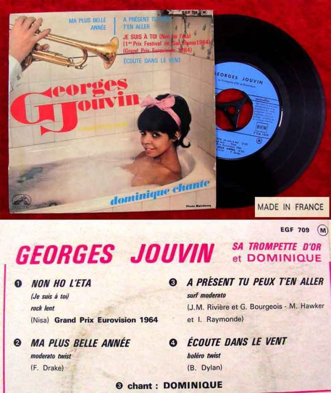 EP Georges Jouvin: & Dominique: No Ho L´Eta + 3 (HMV EGF 709) F 1964
