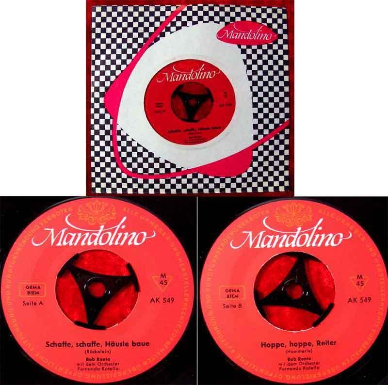 Single Bob Rento: Schaffe schaffe Häusle baue (Mandolino AK 549) D 1964