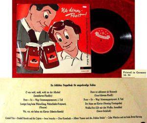 25cm LP Na denn - Prost!  (Polydor 45 062 LPH) D 1954 Friedel Hensch & Cyprys...