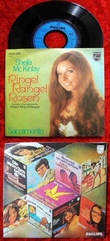 Single Sheila McKinley: Ringel Rangel Rosen (Philips 6003 224) D 1970