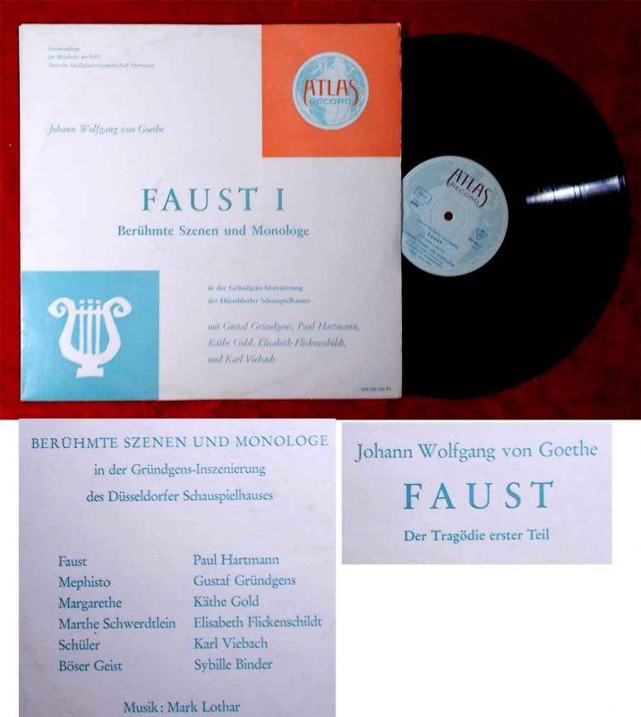 LP Faust I Berühmte Szenen und Monologe (Atlas 68 06) D