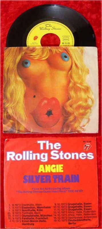 Single Rolling Stones: Angie (Stones RS 19 105) D
