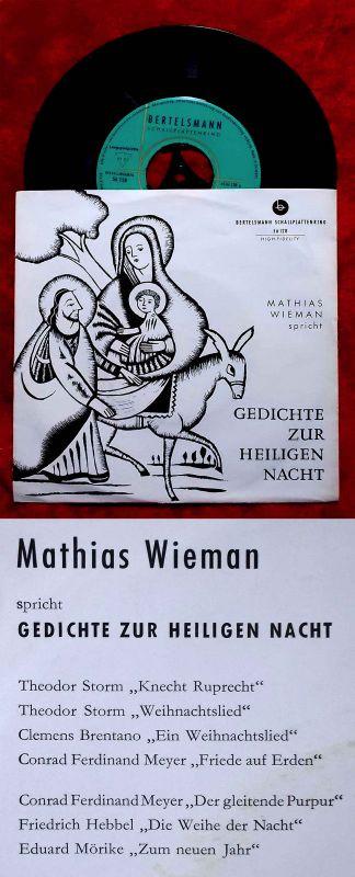 Single Mathias Wieman spricht Gedichte zur Heiligen Nacht (Bertelsmann 56 128) D
