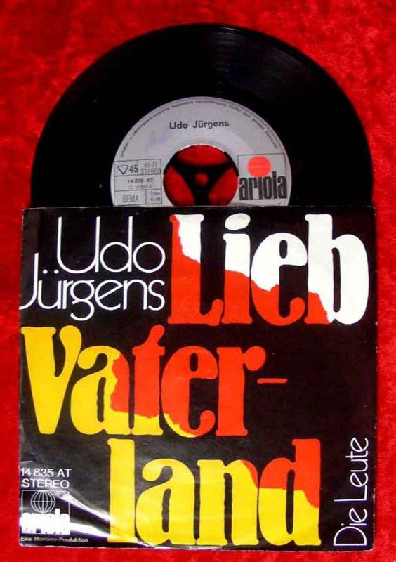 Single Udo Jürgens: Lieb Vaterland (Ariola 14 835 AT) D 1971