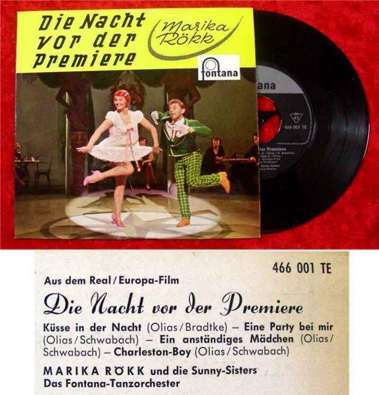 EP Marika Rökk: Die Nacht vor der Premiere (Fontana 466 001 TF) D 1959