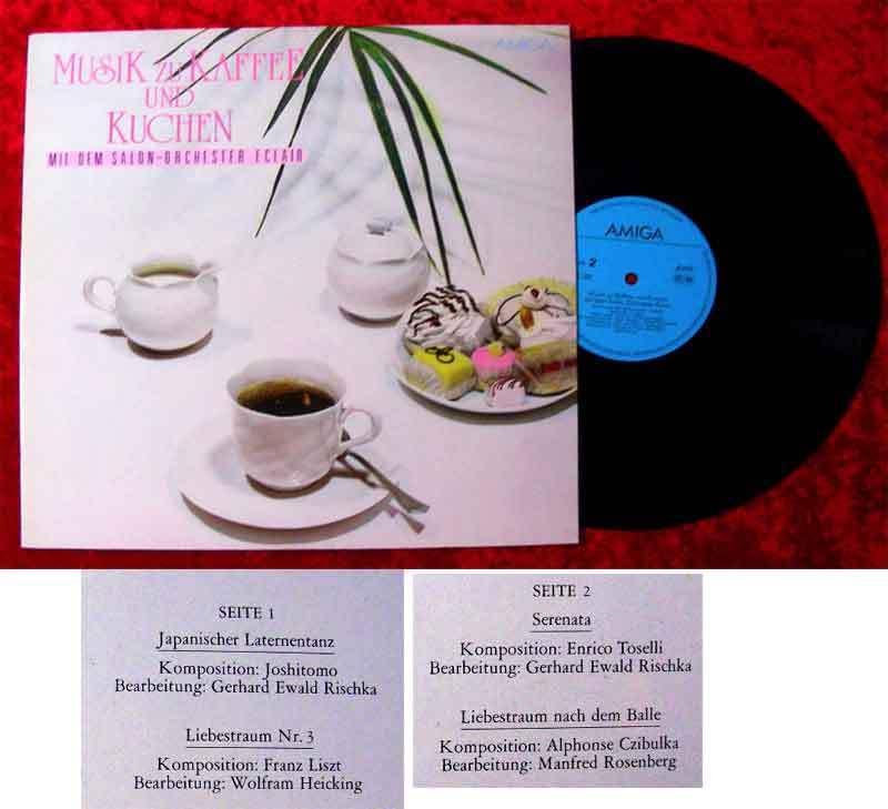 LP Salon Orchester Eclair: Musik zu Kaffee und Kuchen (Amiga 845 320) DDR 1987