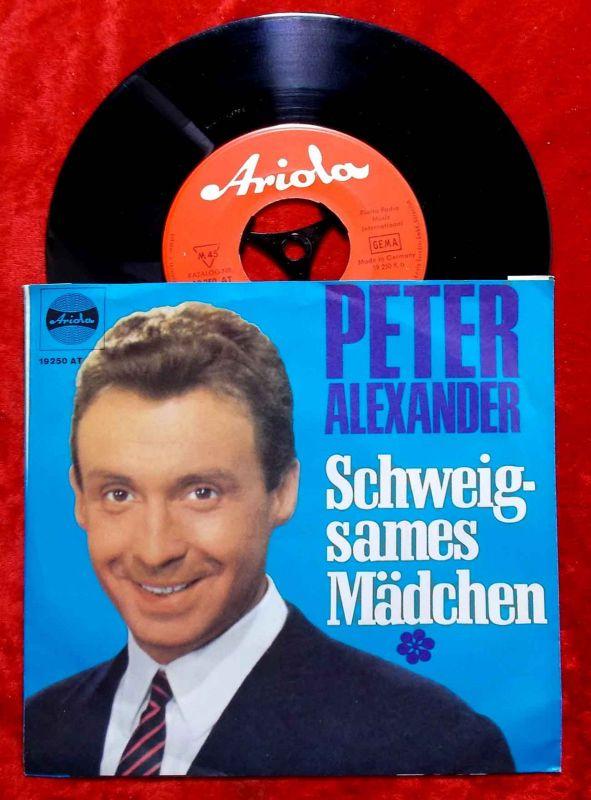 Single Peter Alexander: Spanisch war die Nacht / Schweigsames Mädchen (Ariola) D