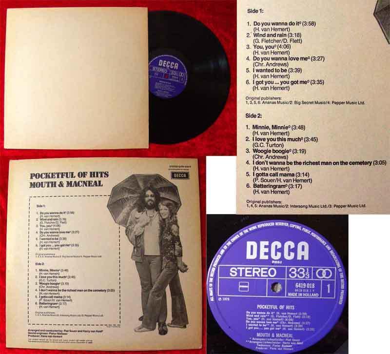 LP Mouth & MacNeal: Pocketful of Hits (Decca 6419 018)