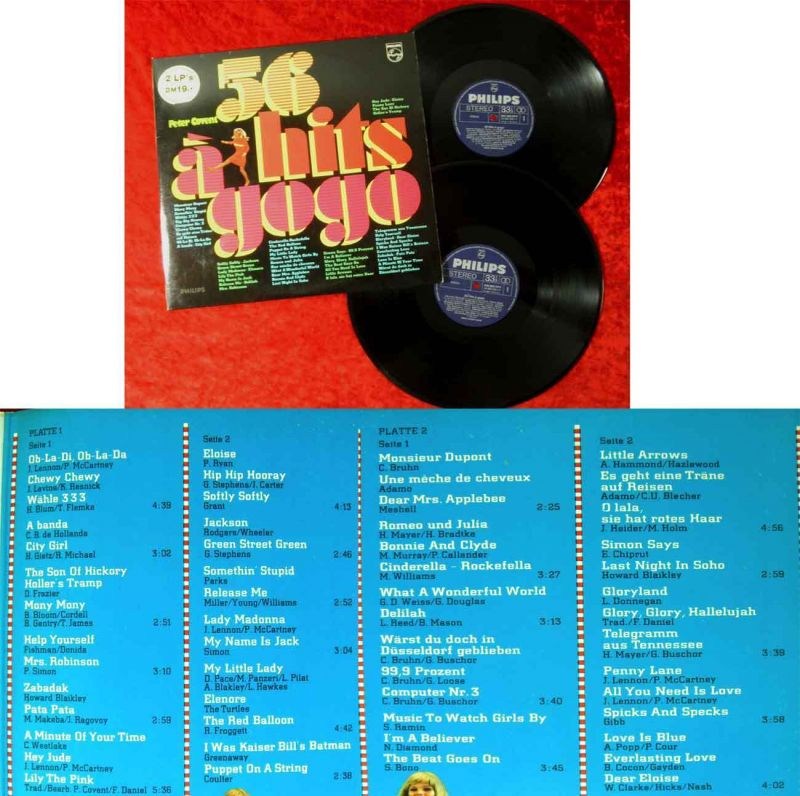 2LP Peter Covent: 56 Hits á gogo (Philips H 72 AM 225) D 1968