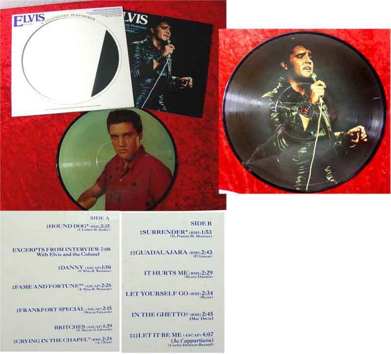 LP Elvis Presley: A Legendary Performer 3 Picture Disc