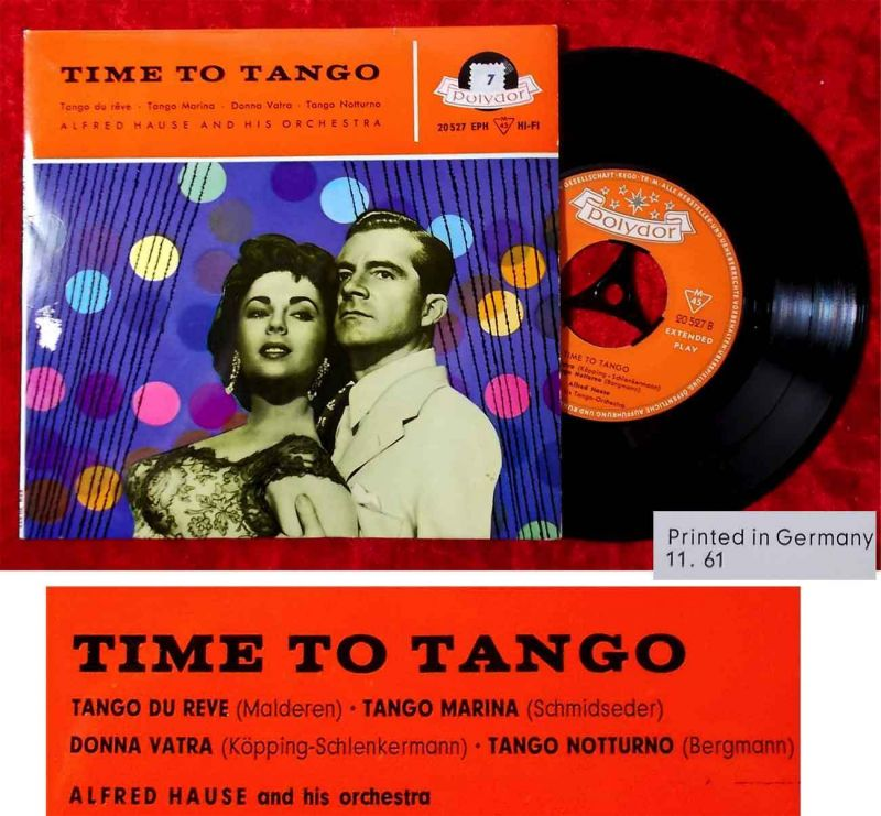 EP Alfred Hause: Time to Tango (Polydor 20 527 EPH) D 1961