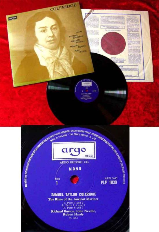 LP The English Poets: Samuel Taylor Coleridge - Read by Richard Burton a.o.
