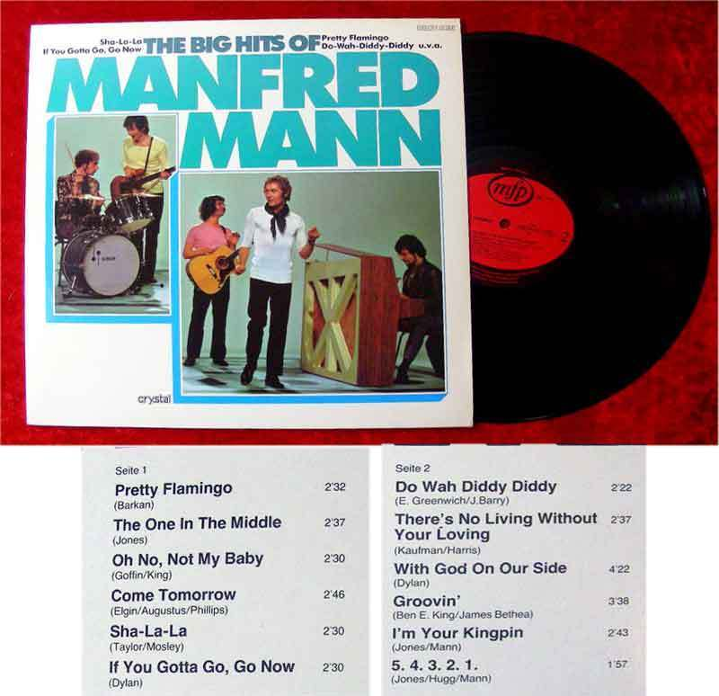 LP Manfred Mann: The Big Hits of Manfred Mann