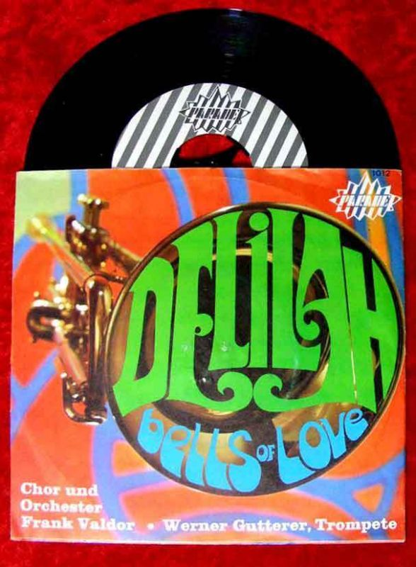 Single Frank Valdor & Werner Gutterer, Trompete: Delilah / Bells of Love (Rar)
