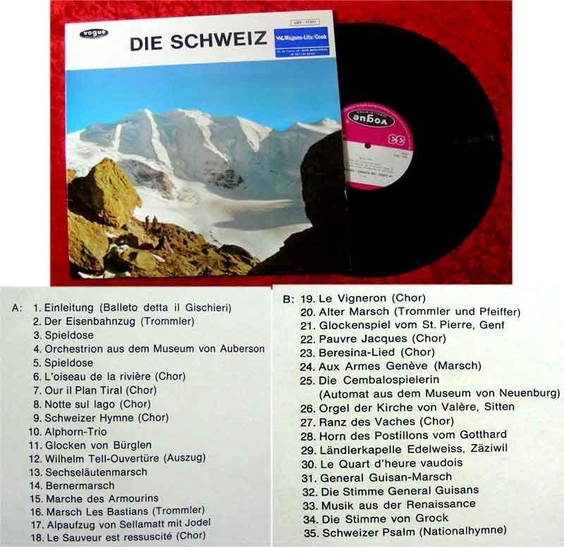 LP Die Schweiz - ein Hörbild