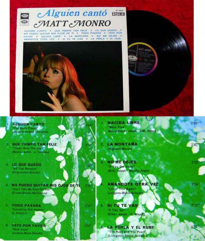 LP Matt Monro: Alguien Cantó