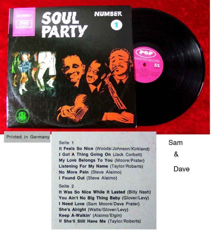 LP Soul Party 1  (Pop) Sam & Dave
