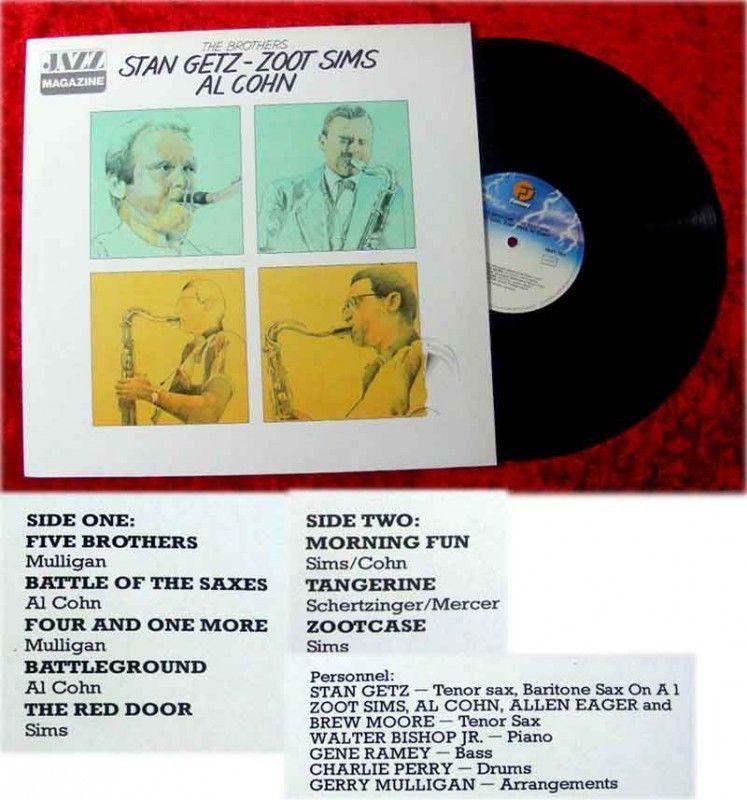 LP Stan Getz Zoot Sims Al Cohn The Brothers Jazz Magazi