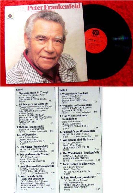 LP Danke Peter Frankenfeld Seine berühmten Lieder und S