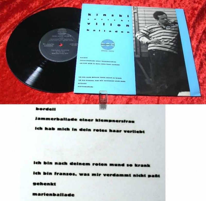 25cm LP Klaus Kinski spricht Villon Balladen