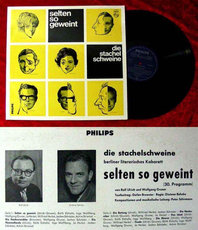 LP Stachelschweine: Selten so geweint (Philips P 48 029 L) 1963