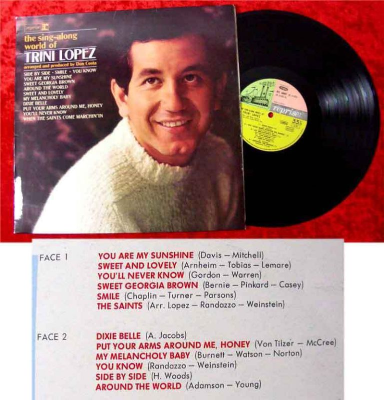 LP Trini Lopez: The Sing-A-Long World Of Trini Lopez
