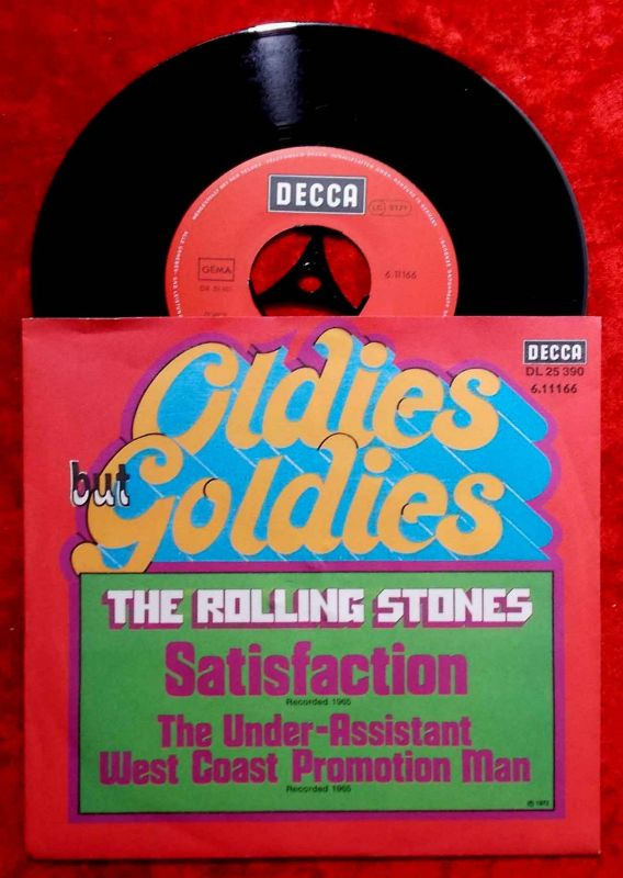 Single Rolling Stones: Satisfaction / Under Assistan (Oldies but Goldies Serie)