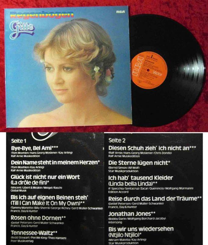 LP Gitte: Regenbogen (RCA PL 28307) D 1977