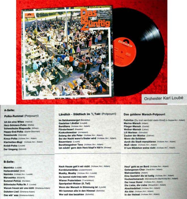 LP Karl Loubé: Das ist zünftig (Polydor 237 245) D 1965
