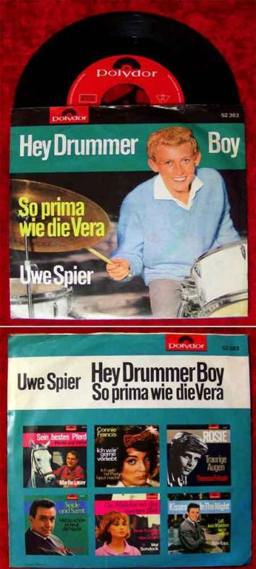 Single Uwe Spier: Hey Drummer Boy (Polydor 52 383) D