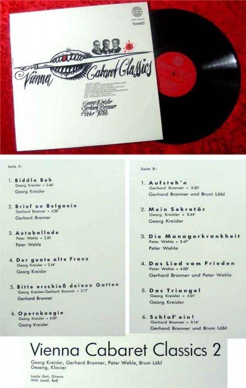 LP Vienna Cabaret Classics 2 Gerhard Bronner Georg Krei