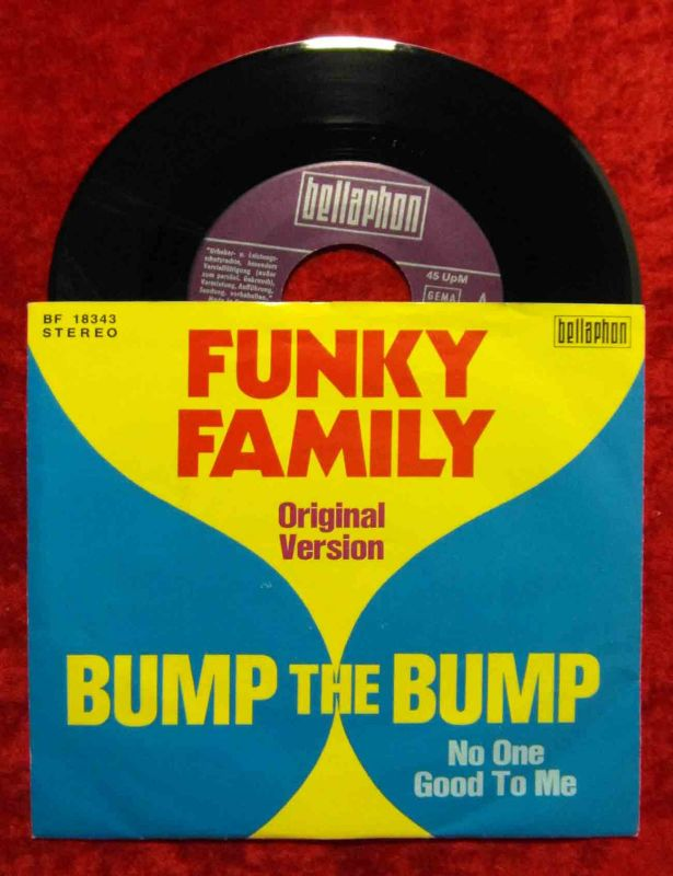 Single Funky Family: Bump The Bump (Bellaphon BF 18343) D 1975